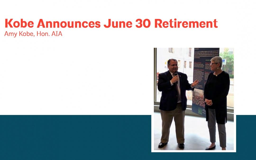 Amy Kobe Announces June 30 Retirement